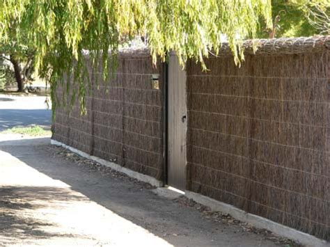 Adelaide Brush Fencing Melbourne - image new machine compressed brush panel fence with roll