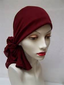 simple hair bandana for covering patch of bald for have lost their hair prefer to wear a head scarf than walk