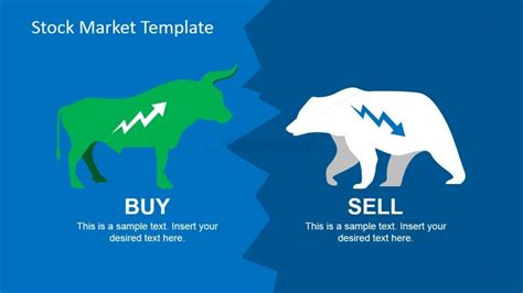 stock market ppt templates free green bull and white powerpoint icons slidemodel