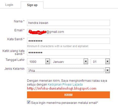 email lazada indonesia cara belanja di lazada indonesia dengan mudah