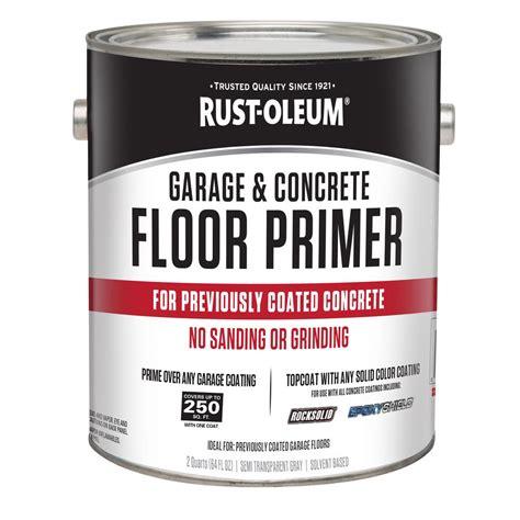 rust oleum  gal garage  concrete floor primer case