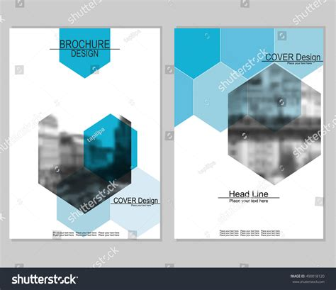 cityscape business card template vector brochure cover templates blurred cityscape stock