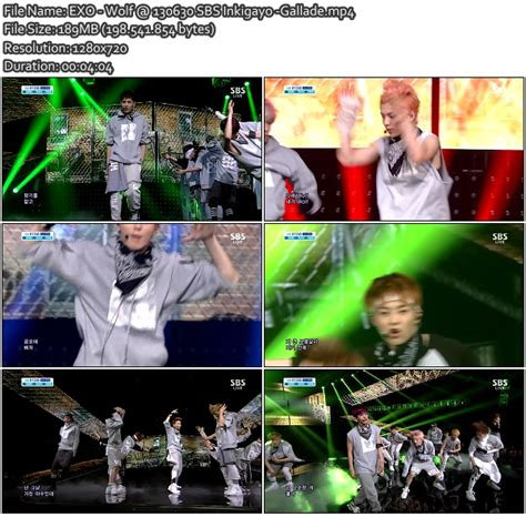 gallade s new blog mini album exo miracles in gallade s new blog perf exo wolf 130630 sbs inkigayo