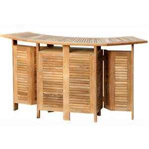 Garden Bar Table Folding Teak Bar 2 Bar Chairs The Garden Factory