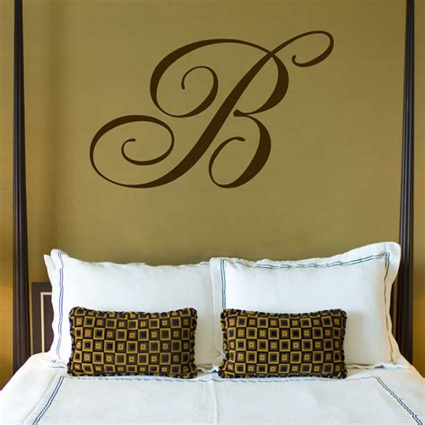 monogrammed wall stickers monogram family name wall decal sticker graphic