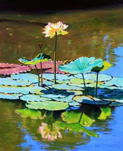 lotus above the lily pads paintings by john lautermilch