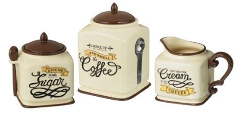 coffee themed kitchen canister sets home christmas decoration coffee themed canister sugar bowl creamer set kitchen