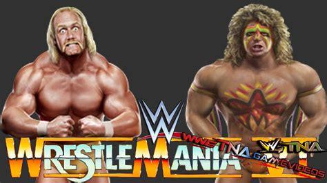 vs ultimate wwe wrestlemania hulk hogan vs the ultimate warrior