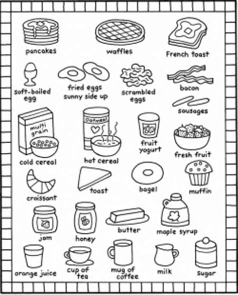 toy kitchen coloring page breakfast coloring pages kids recipes books food and