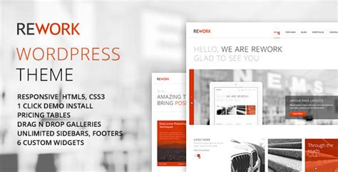 rework responsive modern wordpress theme wordpress