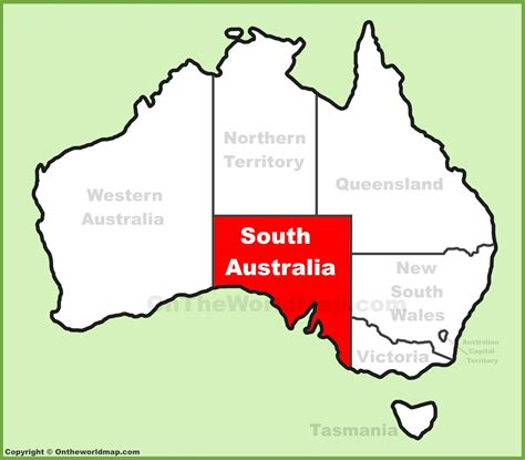 australia map location south australia location on the australia map