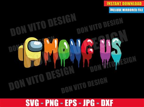yellow logo svg dxf png game impostor crewmate