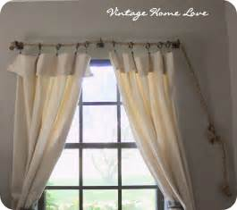 Curtains And Rods Vintage Home Rope Curtain Rod And Diy Curtains