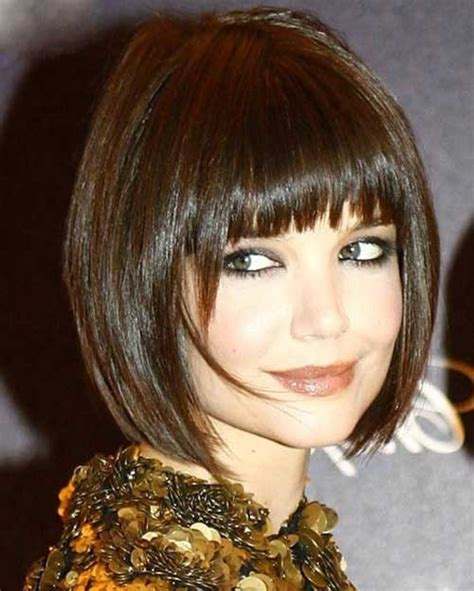 bob haircuts with bangs 2017 15 katie holmes bob with bangs bob hairstyles 2017