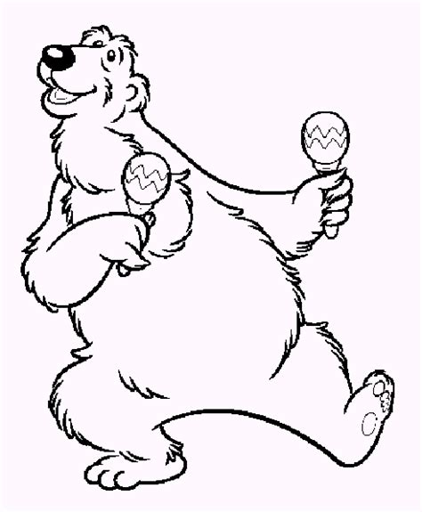 bear in the big blue house coloring coloring pages