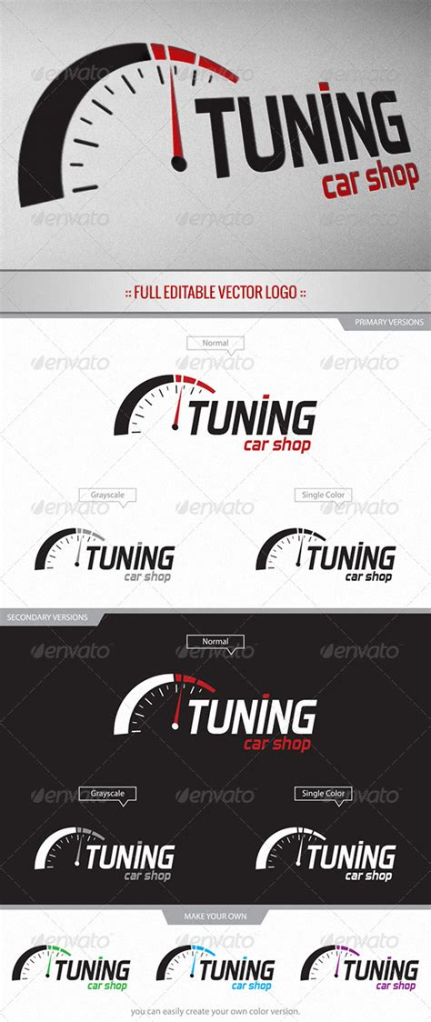 template tuning tuning car shop logo graphicriver