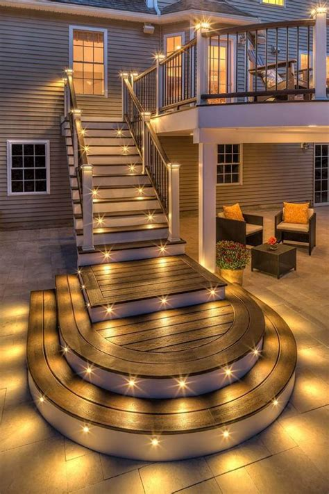 15 cool deck stepping lighting ideas to light up the