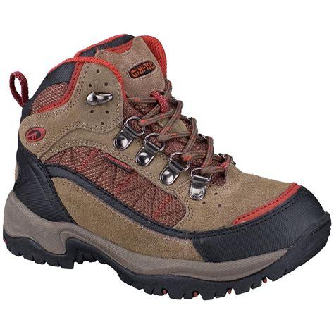 kid hiking shoes hi tec 174 monsoon trail mid waterproof hiking shoes