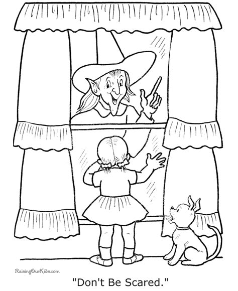 scary halloween witch coloring pages scary coloring pages for halloween 005