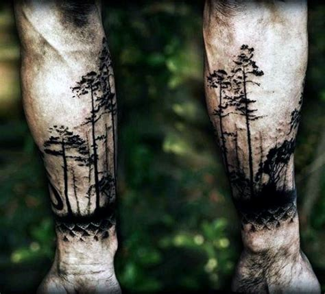 100 forest tattoo designs for men masculine tree ink
