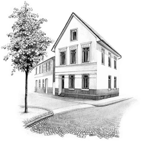 houses drawings pencil sketch