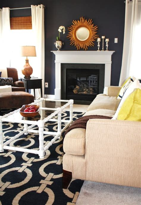 Navy Blue And Gold Living Room by 10 Navy Rooms To Inspire You To Up The Paintbrush