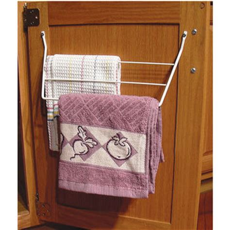 kitchen cabinet towel holder towel organizers pull out and door mounted towel racks