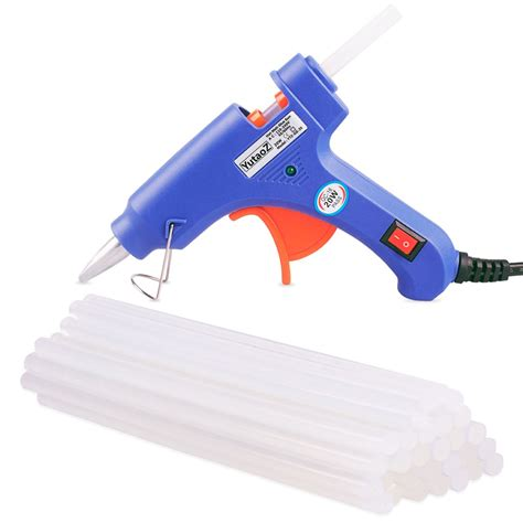 Glue Gun Pistol Lem Tembak 20w 20w mini melt glue gun with 30 pieces glue sticks for diy craft sealing repairing