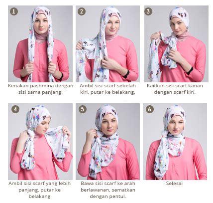 tutorial hijab segi 4 ala dewi sandra cara memakai hijab segi empat modern ala dewi sandra