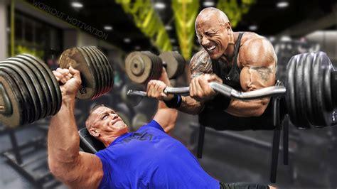 dwayne johnson the rock vs john cena dwayne the rock johnson vs john cena workout motivation