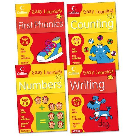 0008134200 collins easy learning age collins easy learning pack ages 3 5 scholastic kids club