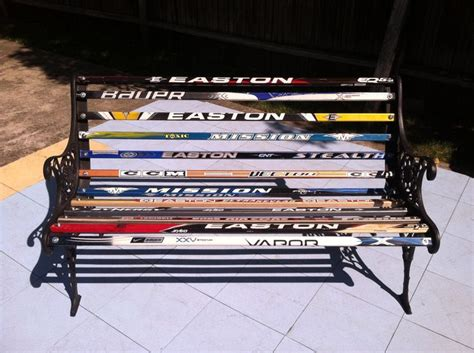 hockey stick bench hockey stick bench this was a perfect way to recycle old