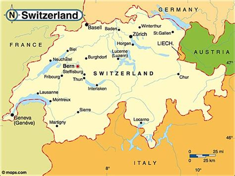 map of europe and surrounding countries switzerland map bordering countries