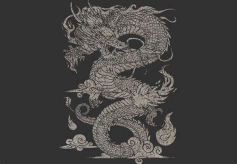 design by humans dragon vintage ancient chinese dragon on dark from design by