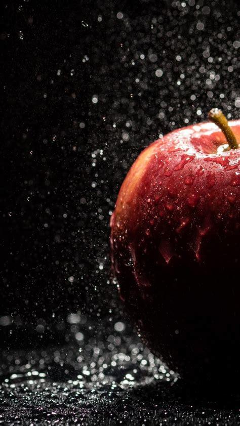 wallpaper 4k apple water drops on apple wallpaper 4k hd wallpaper background