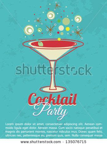 vintage cocktail vector vintage cocktail party invitation poster stock vector