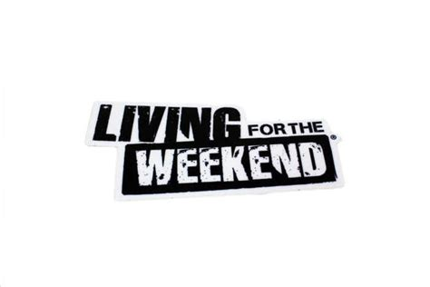 logo sticker 60cm x 120cm living for the weekend productions