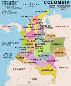 colombia map travel map travelquaz