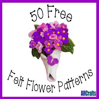 pattern for making felt flowers felt allcrafts free crafts update