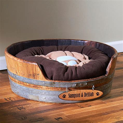 Wine Barrel Bed by Personalized Wine Barrel Pet Bed Small Wine Enthusiast