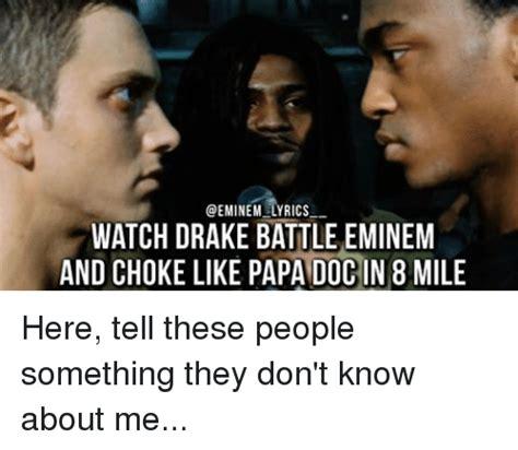 eminem you don t know lyrics funny 8 mile and eminem memes of 2016 on sizzle