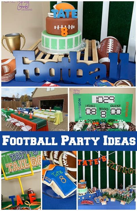 theme blog football this boy s football birthday party is a touchdown
