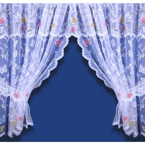 butterfly curtains uk meadow butterfly net set including pelmet and tiebacks white