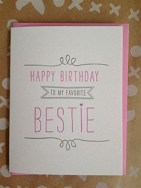 birthday card for best friend card best friend birthday card letterpress birthday card for