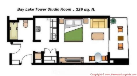 disney bay lake tower floor plan disney contemporary resort studio room and towers on
