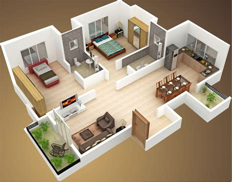 House Plans For A View by House Plan With 3d View 28 Images 2 Bedroom House