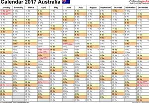 The Calendar For 2017 Australia Calendar 2017 Free Printable Pdf Templates