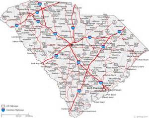 carolina road map map of south carolina cities south carolina road map