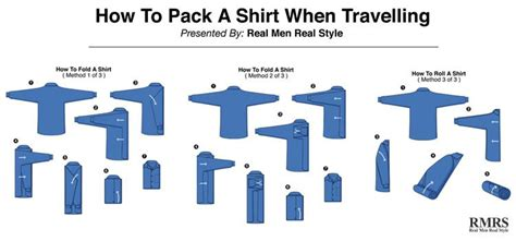 how to fold a men s dress shirt travel tips for folding shirts