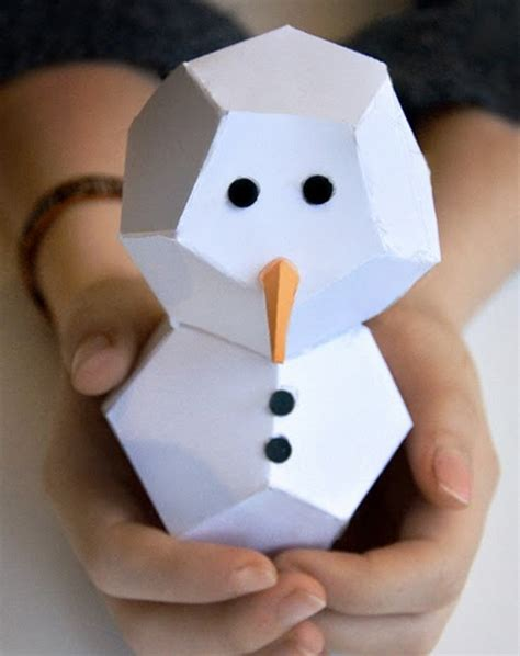 How To Make A Snowman With Paper - how to make a snowman out of things other than snow